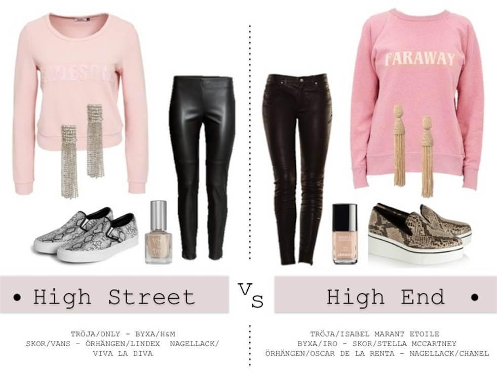 High Street vs High End