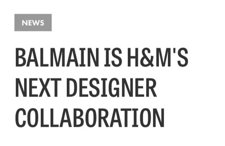 H&M x Balmaination