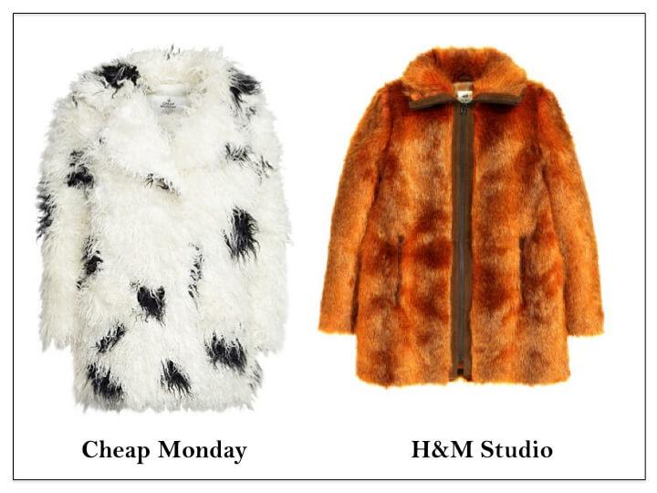 faux fur cheap monday hm studio