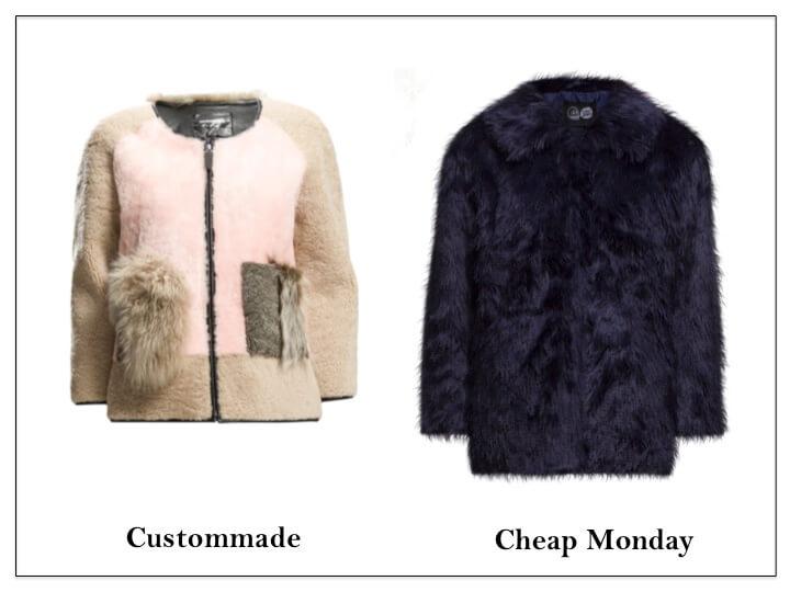 faux fur custommade cheap monday