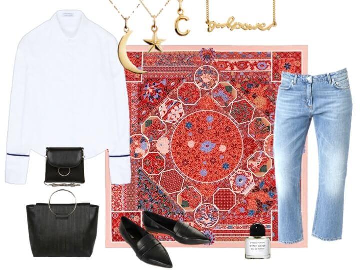 styla en klassiker Hermes scarf
