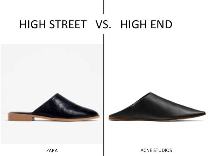 HIGH STREET VS HIGH END TOVE CASTOR