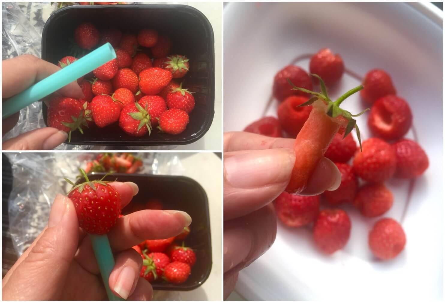 Rensa jordgubbar Karin Uggla