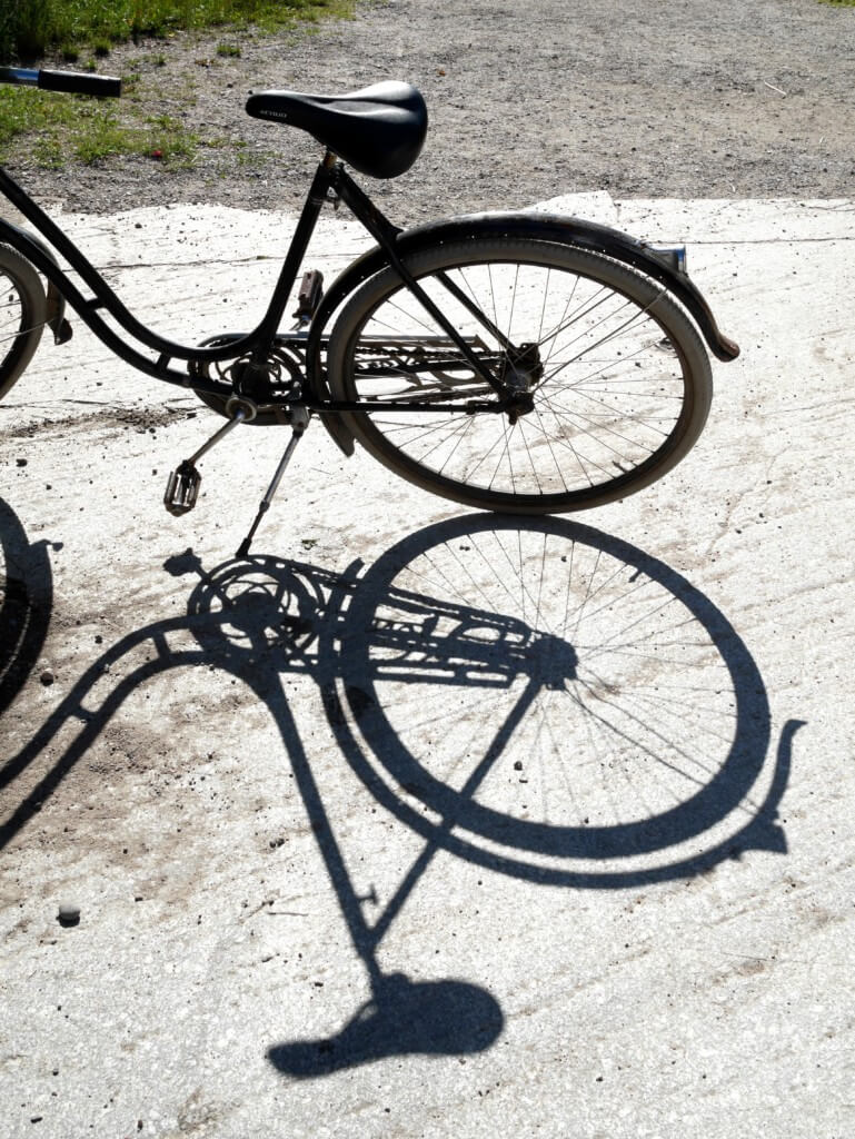 skugga av en cykel